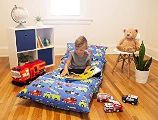 Wildkin Kids Pillow Lounger for Boys and Girls, Travel-Friendly and Perfect as a Pillow Bed for Sleepovers, Requires 4 Standard Size Pillows (Not Included)
