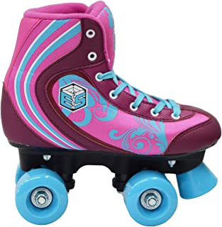 New! Epic Cotton Candy Quad Roller Skates w/2 Pr. Laces (Pink & Blue)