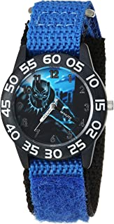 MARVEL Boys Avengers Analog-Quartz Watch with Nylon Strap, Blue, 16 (Model: WMA000229)