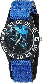 MARVEL Boys Avengers Analog-Quartz Watch with Nylon Strap, Blue, 16 (Model: WMA000229)