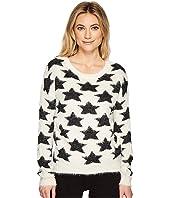 ROMEO & JULIET COUTURE - Star Motif Eyelash Sweater Top