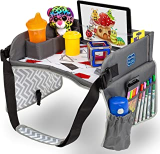Kids Travel Play Tray by KENLEY KIDS | Car Seat Activity Tray | Waterproof, Food & Snack Tray with Tablet/iPad/Cup Holder ...