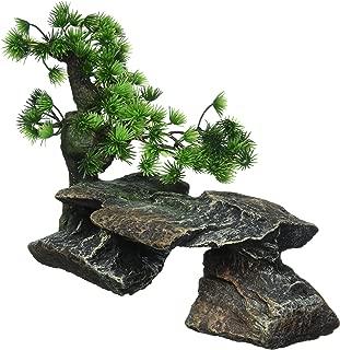 Penn Plax Bonsai Tree on Rocks Aquarium Decor - Style 1