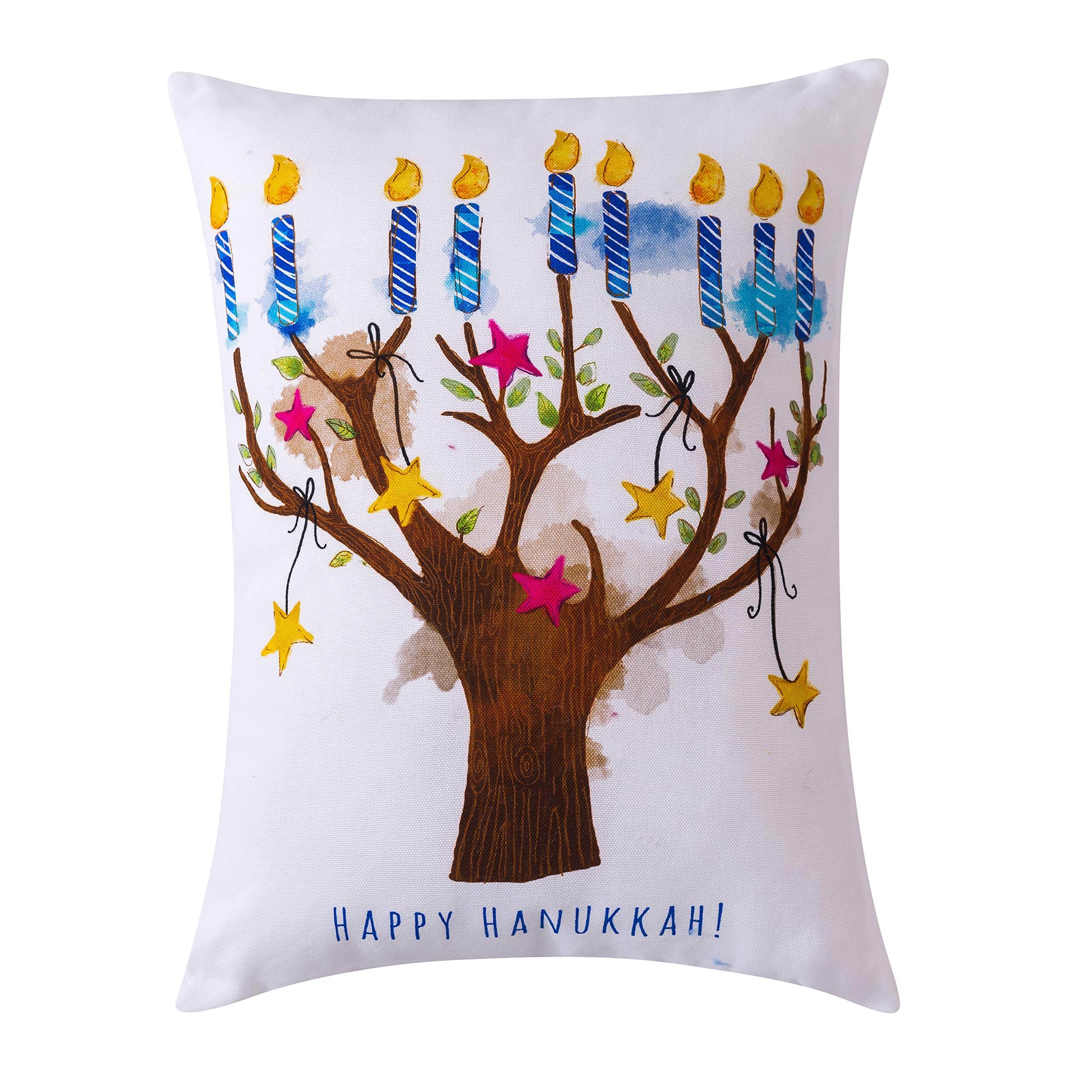 Amazon Com 16x12 Dec Pillow Hanukkah Tree Home Kitchen
