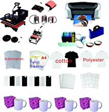 TRANSFER WORLD 8in1 Professional Sublimation Heat Transfer Machine Epson Printer C88 CISS KIT