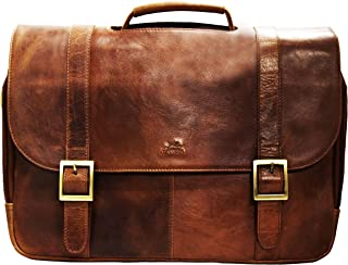 Mancini Arizona Double Compartment Briefcase For Laptop/Tablet
