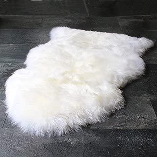 Outlavish Sheepskin Rug Genuine Soft Natural Merino (2' x 3' White/Ivory)
