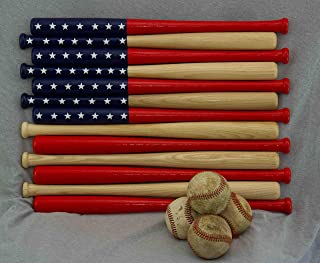 Baseball bat American Flag made out of 18 inch bats