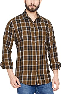 Go Stylish Mens Checks Casual Shirt (GS-8026-OW-Checks)