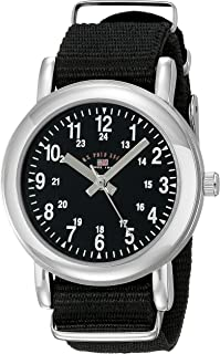 U.S. Polo Assn. Kids' USB75015 Analog Display Analog Quartz Black Watch