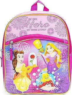 Belle, Ariel and Rapunzel Princess Pink 12 Inch Toddler Backpack School Bag