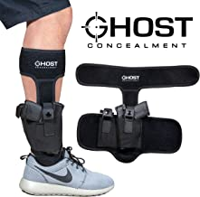 Ghost Concealment Ankle Holster for Concealed Carry Pistol | Universal Leg Carry Gun..