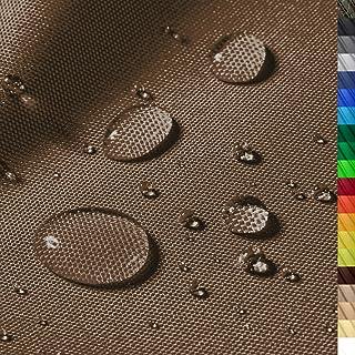 1buy3 Monaco Wasserdichter Polyester Stoff | 12.000 mm Wassersäule | Farbe 05 | Braun | Polyester Stoff 160cm breit Meterware wasserdicht Outdoor extrem reissfest