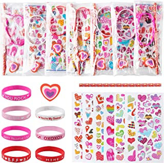 WATINC 28 Pack Assorted Valentines Day Stationery Set, Classroom Exchange Gift, Birthday Giveaways Bag for Kids, Classroom...