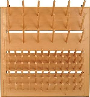 Eisco CH0001C Wood Draining Rack, Wall Mountable - 90 Pins (72 - 3