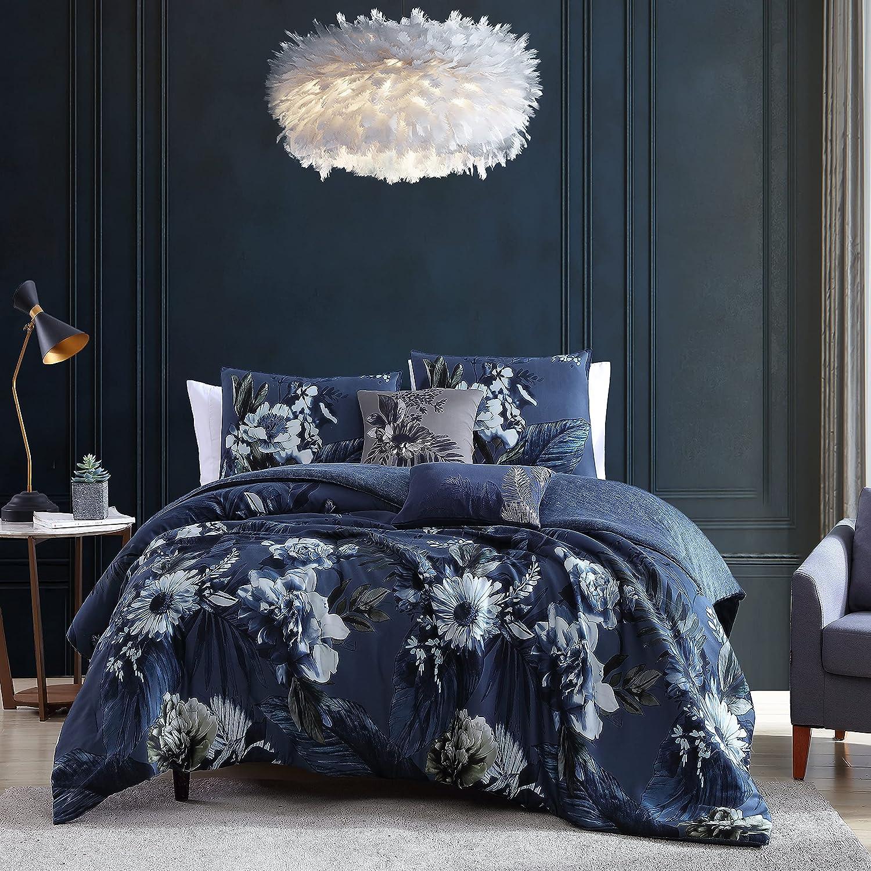 Bebejan El Paso Mall Delphine 100% Cotton Sateen 5 Piece Cozy shipfree Set Comforter