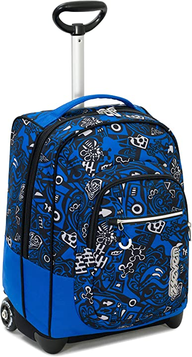 trolley scuola fit seven noongar blu 35 lt 2in1 zaino con sollevamento spallacci 201001962-535