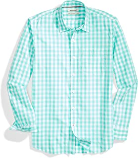 Amazon Brand - Goodthreads Standard-Fit Long-Sleeve Plaid Poplin Shirt