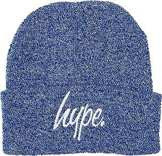 HYPE Gorro con diseño de rayas de color azul marino, talla única.