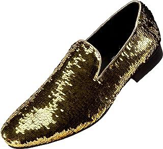 9961872cfeb Amali Smoking Slipper Reversible Metallic Sequins Loafer Dress Shoe
