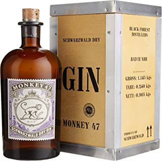 Monkey 47 Gin mit Holzkiste 1 x 0.5 l