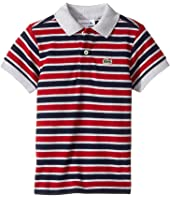 Lacoste Kids - Short Sleeve Small Multi Stripe (Infant/Toddler/Little Kids/Big Kids)