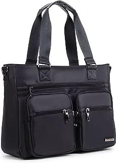 Crest Design Water Repellent Nylon Shoulder Bag Handbag Tablet Laptop Tote as Travel Work and School Bag. Perfect Nursing Tote to Carry Medical, Nursing Supplies (Black)