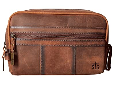 STS Ranchwear The Foreman Shave Kit (Brown Leather) Handbags