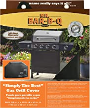 "Mr. BBQ Platinum Prestige Large Grill Cover - Helps Prevent Cracking and Rusting - Waterproof Material - UV Protection - Snow and Rain Protection - Heat and Flame Resistant - 68""x 21""x 42"""