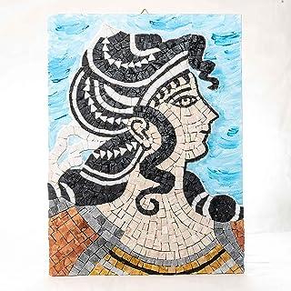 Idea Regalo Originale Natale/Compleanno: Arianna Danzatrice Greca - kit mosaico d'Arte - Tessere di mosaico in marmo - Hob...