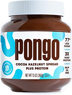 Cocoa Hazelnut Spread Plus Protein by Pongo | 77% Less Sugar and 3x More Protein than the Leading Brand | K...