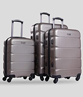 PARAJOHN Sphinx 3-Piece Hard Trolley Luggage Set Champagne