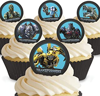 Cakeshop 12 x PRE-CUT Transformers Edible Cake Toppers