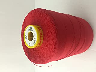Gutermann Strong Sewing Thread in Mara 30,-3280 yards polyester color red 156 ,Top Stitch , Buttonhole , Carpet Mara 30.