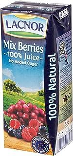 Lacnor Essentials Sugar Free Mix Berries Juice 8 x 180 ml