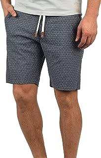 Blend Serge Herren Chino Shorts Bermuda Kurze Hose Mit Rauten-Muster Und Kordel-Gürtel Aus 100% Baumwolle Regular Fit
