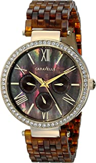 Caravelle New York Women's 44N102 Analog Display Analog Quartz Brown Watch