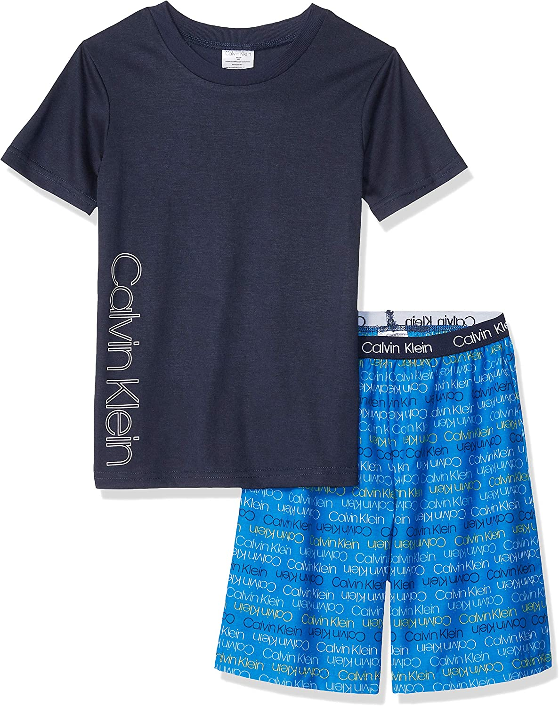 Calvin Klein Boys' 2 Piece Sleepwear Top and Bottom Pajama Set Pj