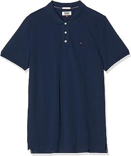 Piqué P Camiseta Polo con Cierre de 3 Botones para Hombre