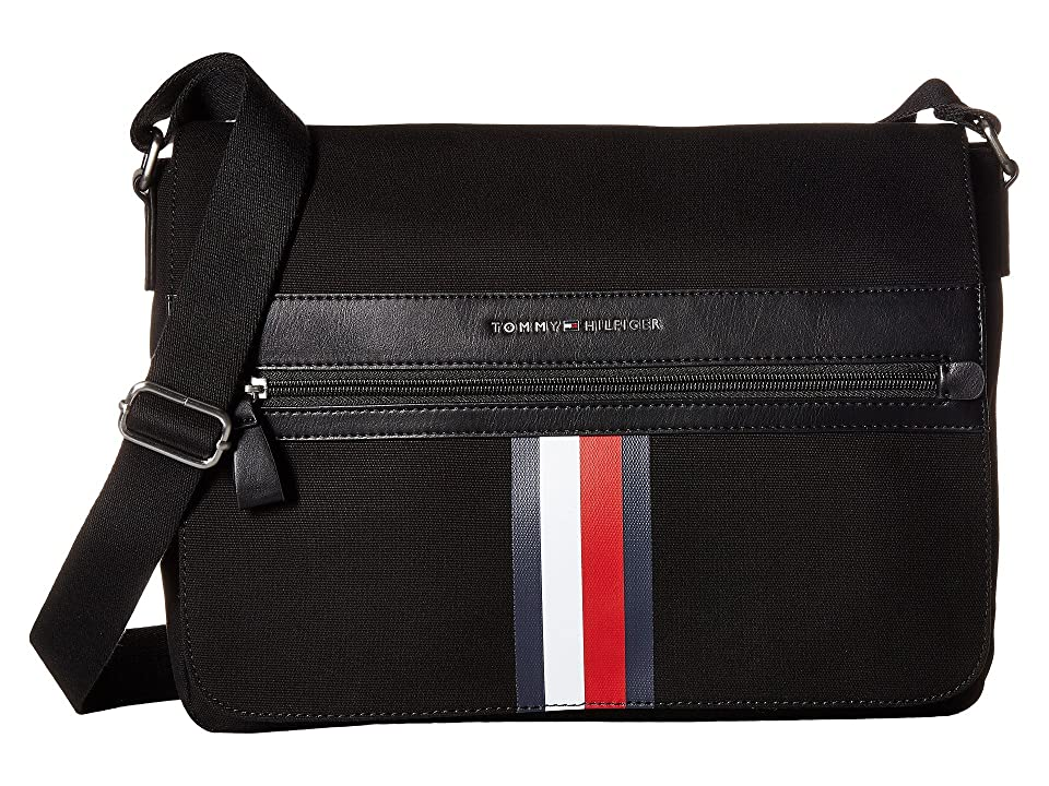 Tommy Hilfiger Icon Messenger Canvas (Black) Messenger Bags