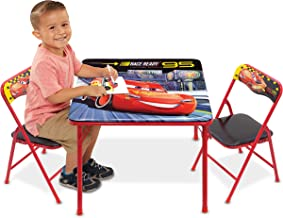 cars chair and table set