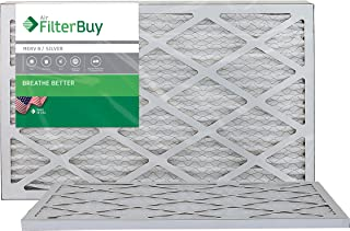 FilterBuy 10x20x1 MERV 8 Pleated AC Furnace Air Filter, (Pack of 2 Filters), 10x20x1 – Silver