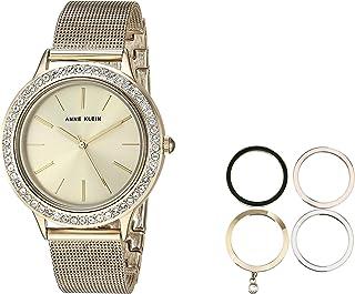 Anne Klein Women's Swarovski Crystal Accented Watch and Interchangeable Bezel Set