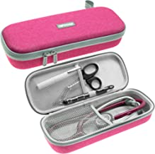 ButterFox Semi Hard Stethoscope Carry Case, fits 3M Littmann Stethoscope and Other Accessories - Available in Blue, Grey, Purple and Turquoise (Pink)