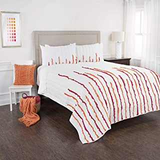 """Rizzy Home BT1450 Quilt, 106""""X92"""", Red"""
