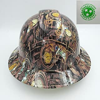 Wet Works Imaging Customized Pyramex Full Brim Steam Punk Hard Hat With Ratcheting Suspension