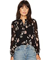 Lucky Brand - Ditsy Mock Neck Top