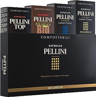Pellini Caffè - Espresso Pellini Confezione Gift Box (mix multigusto da 40 Capsule), Livello di tostatura Medio, Compatibi...