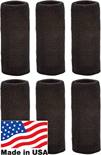Unique Sports 6-Inch Long Wrist Towel Wristbands (6 Pack)