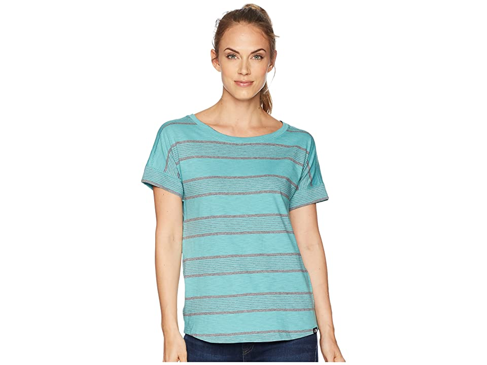 The North Face Short Sleeve Sand Scape Tee (Bristol Blue Stripe) Women